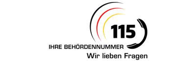 Logo 115 - Ihre Behördennummer - Wir lieben Fragen
