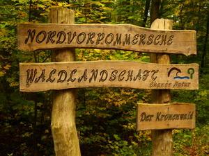 Eingangsschild Kronenwald bei Lendershagen