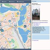 Interaktive Karte Refugees Welcome @ VR
