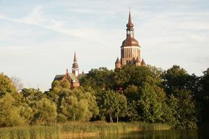 Externer Link: [Klicken für Bildvergrößerung]Stralsunder Marienkirche (Foto: Heidi Schüler)