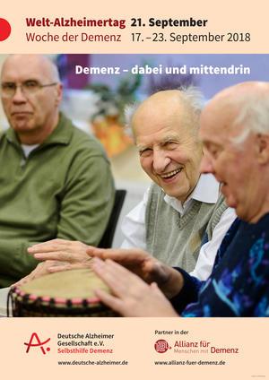 Plakat des Welt-Alzheimertags 2018