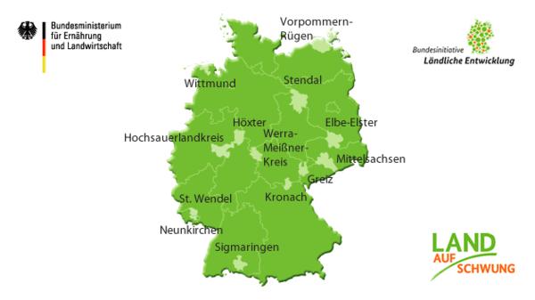13 Modellregionen Land(auf)Schwung