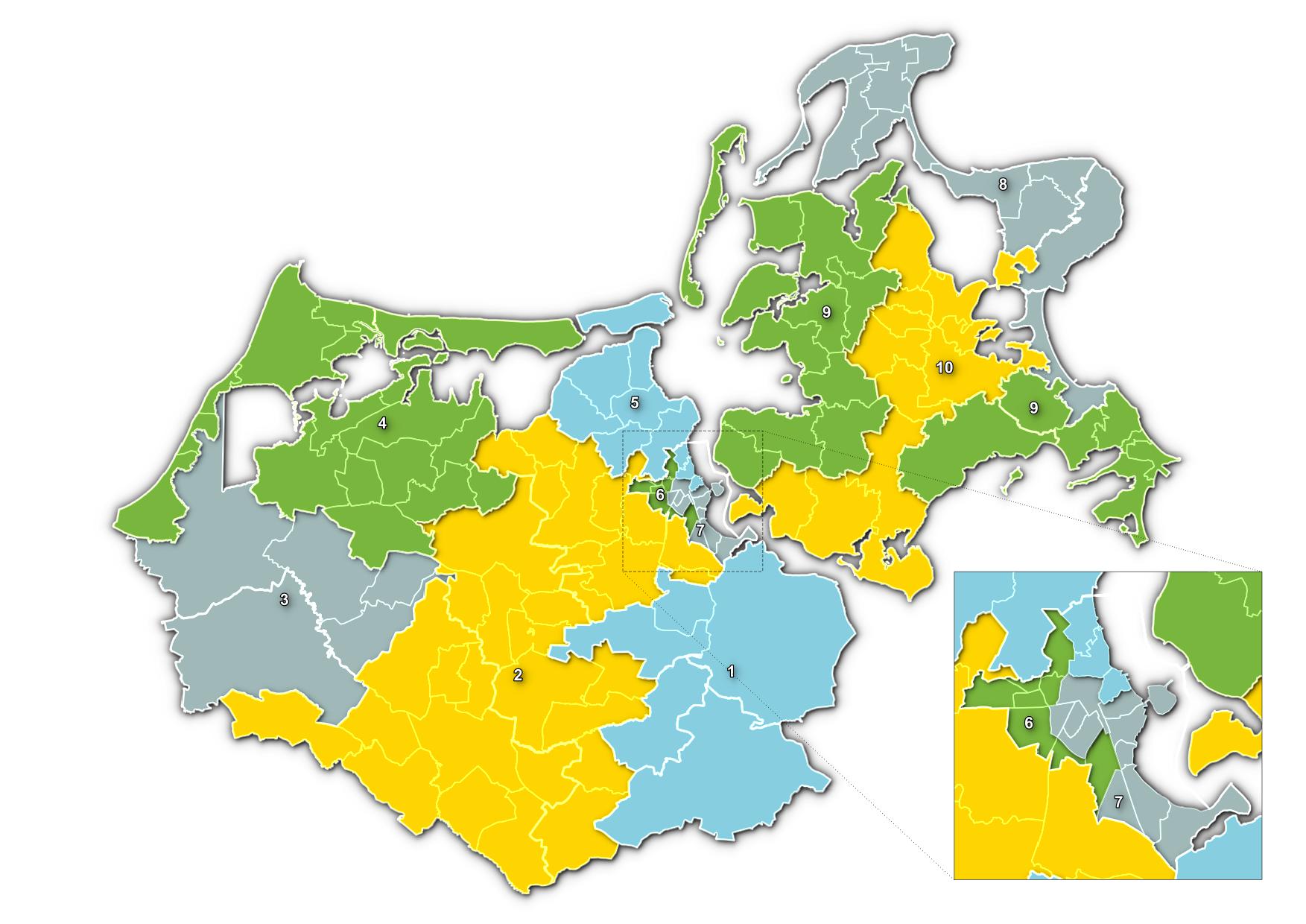 Wahlbereiche Kommunalwahl 2019